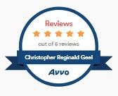 AVVO 5 star rating Chris Geel